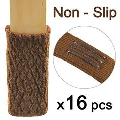 X Group 16pcs Knitting Wool Furniture Socks Reliable Chair Leg Floor Protector Wood