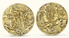 Two Continental silver-gilt circular plaquettes, late 17th century | lot | Sotheby's