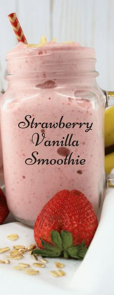 Stawberry Vanilla Smoothie - Drinks, Cocktails, Smoothies & Co - Frozen Fruit Recipes Smoothie Packs, Smoothie Detox, Smoothie Bowl, Vanilla Smoothie, Juice Smoothie, Vitamix Juice, Melon Smoothie, Smoothie Drinks, Protein Smoothies