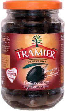 Nos olives noires confites entières en bocal de 180g - Tramier