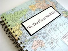 Travel Journal Graduation Gift with Custom by VintagePageDesigns, $30.00 #travel journal #graduation gift