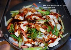 Stir fry con vegetales frescos