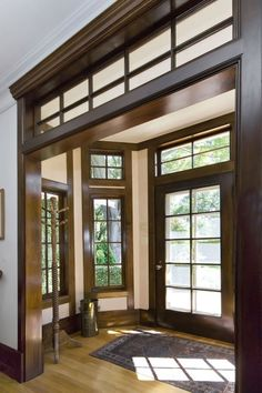 Not stained glass but LOVE the interior transom!!! craftsman style....love it :)
