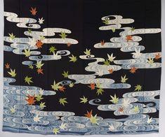 Week 36: Kimono: Susoshiki with maple leafs in the Tatsuta river, 1920–1940