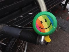Smiley rainbow bicycle bell