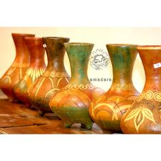 Vase en terre cuite décoré à la main artisanat mexicain
