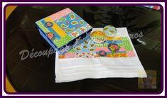 Kit contendo  toalha de lavabo branca com decoupage,2 sabonete redondo , e caixa de mdf com a mesma estampa   Os sabonetes deste kit pode ser utilizado normalmente e a toalha deve ser lavada com água fria e não  deixar de molho R$ 35,00