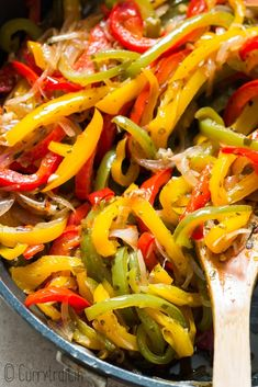 This simple to make sautéed peppers and onions have wonderful caramelized flavors making it a great side dish for any meal. Grilled Peppers And Onions, Fried Peppers, Roasted Peppers, Fried Onions, Onion Recipes, Vegetable Recipes, Wok Recipes, Dishes Recipes, Side Dishes