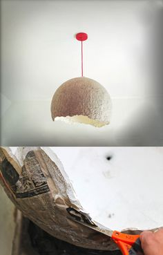 1000 images about paper mache lamps on pinterest paper for How to make paper mache lamps