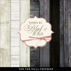 Far Far Hill - Free database of digital illustrations and papers: New Freebies Kit of Backgrounds - Black & White Wood