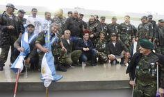 Nardini homenajeó a los Ex Combatientes de Malvinas en la nueva Plaza 2 de Abril