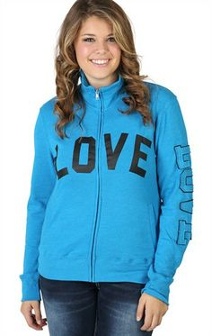 Deb Shops Plus Size Zip Up Track #Jacket with Love Patches $20.92
