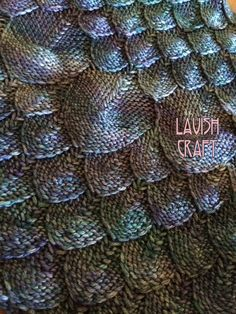 Dragon Scales. Snake skin. Feathers. Knitted texture. http://www.ravelry.com/patterns/library/azure-dragon