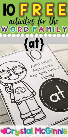 10 Free Activities for the Word Family AT