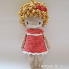 AmourFouCrochet: { Amour Fou } - Crochet Patterns for Handmade Dolls Amigurumi Patterns, Amigurumi Doll, Knitting Patterns, Crochet Patterns, Craft Patterns, Crochet Doll Pattern, Crochet Dolls, Half Double Crochet, Single Crochet