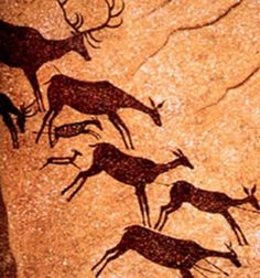 Cave Paintings are paintings on cave walls and ceilings, usually dating to prehistoric times. The earliest known European cave paintings date to years ago. Join us to discover the top twenty most fascinating prehistoric cave paintings. Cro Magnon, Cave Man, Lascaux Cave Paintings, Paleolithic Art, Prehistoric Age, Stone Age Art, Cave Drawings, Ancient Art, Rock Art