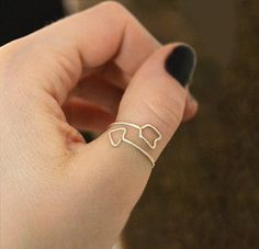Cupid's Arrow in gold, rose gold, or silver: thin stacking ring, open arrow ring