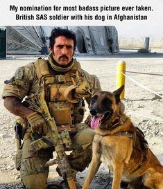 Badass Picture Of A Soldier And His Dog