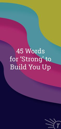 Tip for feeling stronger: Change your language. These strong words will build you up in no time! Writing Memes, Writing Prompts, Synonyms For Great, Improve Your Vocabulary, Nouns And Verbs, Strong Words, Improve Yourself, Writer