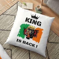 #thekingisback #conormcgregor #ufc #mma #findyourthing #shirtsonline #trends #riveofficial #favouriteshirts  #art #style #design #shopping #redbubble #digitalart #design #fashion #phonecases #customproducts #onlineshopping #accessories #shoponline #onlinestore Floor Pillows, Throw Pillows, Conor Mcgregor, Pillow Design, Ufc, Custom Design, King, Trends, Flooring