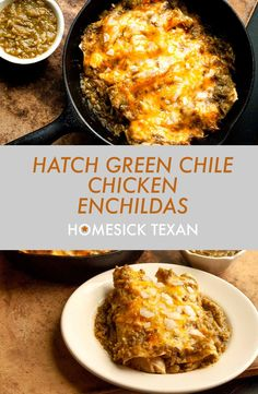 Mexican Food Dishes, Mexican Food Recipes, Main Dishes, Chicken Enchildas, Green Chili Enchiladas, Homesick Texan, Green Chili Chicken, Green Salsa, Latin Food
