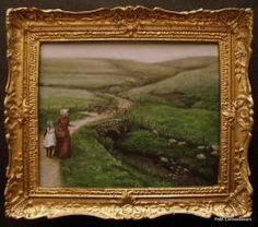 Original Paintings, Original Art, Oil Paintings, Small Art, Dollhouse Miniatures, Countryside, Picture Frames, Framed Pictures, African