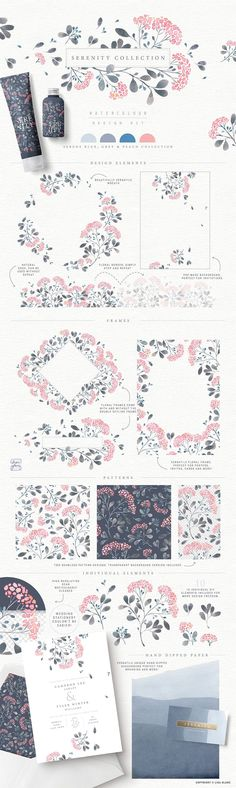 Elegant Watercolor Flower and Leaves plants collections Download and Inspiration