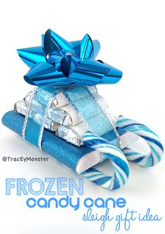 Frozen Candy Cane Sleigh Christmas Gift Idea #kidcraft Great teacher gifts and stocking stuffers! | CraftyMorning.com
