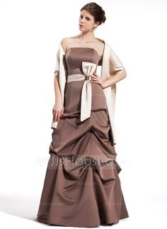 Bridesmaid Dresses - $129.99 - A-Line/Princess Strapless Floor-Length Satin Bridesmaid Dress With Ruffle Sash (007001019) http://jjshouse.com/A-Line-Princess-Strapless-Floor-Length-Satin-Bridesmaid-Dress-With-Ruffle-Sash-007001019-g1019?ver=1