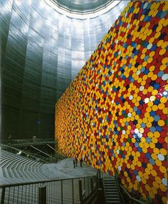 Christo and Jeanne-claude. The Wall, Oil Barrels, Oberhausen, Germany. Christo and Jeanne-Claude. Christo Et Jeanne Claude, Bulgaria, Sculpture Art, Sculptures, Oil Barrel, Vides, Artistic Installation, Public Art, Art And Architecture