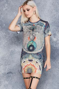 Eternal Wisdom Tee Dress - 48HR ($80AUD) by BlackMilk Clothing