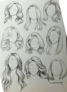 hair sketch ~ hair sketch & hair sketch tutorial & hair sketch easy & hair sketches girl & hair sketch tutorial step by step & hair sketch male & hair sketch anime & hair sketching Girl Hair Drawing, Girl Drawing Sketches, Art Drawings Sketches Simple, Pencil Art Drawings, Drawing Tips, Easy Drawings, Drawing Ideas, Tattoo Sketches, Drawing Techniques
