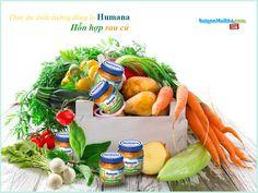 Thức ăn dinh dưỡng chế biến sẵn Humana hỗn hợp rau củ (125g).Thành phần cấu tạo: cà rốt, củ cải, cần tây, bột gạo nguyên cám, dầu hạt cải, nước. Giá: 39.500 đ/lọ
