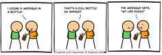 For relatable posts that are too real for /r/meirl or /r/me_irl. Best Cartoons Ever, Cool Cartoons, Cyanide Happiness, Online Comics, Message In A Bottle, Color Theory, Puns, Webtoon, Jokes