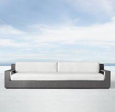 """111"""" Marbella Aluminum Luxe Sofa"""