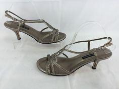 Women's Caparros Pandora Silver Metallic Sandals Shoes Size 9.0 B DA 301…