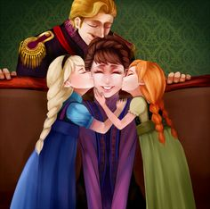 King Agnarr, Queen Iduna, Elsa and Anna--Frozen Walt Disney, Disney Family, Disney Magic, Disney Frozen, Anna Frozen, Disney And Dreamworks, Disney Pixar, Disney Characters, Jelsa