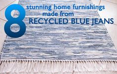 8 Recycled Denim Designs for the Home!   Inhabitat - Sustainable Design Innovation, Eco Architecture, Green Building