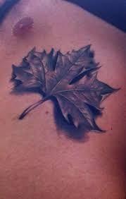Billedresultat for realistic maple leaf tattoo