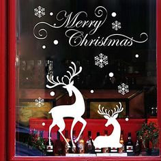 Tenworld Christmas Mural Removable Window Sticker Decal Merry Christmas Wall Decor Stickers >>> Learn more by visiting the image link. Decoration Stickers, Wall Stickers Home Decor, Xmas Decorations, Wall Stickers Hallway, Removable Wall Stickers, Wall Decals, Christmas Window Stickers, Christmas Wall Art, Merry Christmas