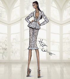 Hayden Williams Fashion Illustrations: Hayden Williams Haute Couture SS15: Look 2