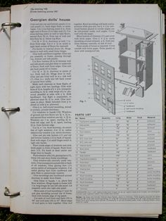 wall mounted dollhouse plans; use to build 1/144th house