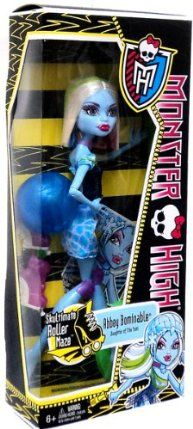 Monster High Roller Maze Abbey Bominable Doll by Mattel. $14.49. Skultimate Roller Maze is a ferocious game that requires monster skills. Collect all your favorite Monster High Roller Maze dolls. Abbey Bominable wears a Skultimate Roller Maze outfit complete with helmet, knee pads and skates. The ghouls of Monster High have been asked to skate in and save the day. Doll is fully articulated and can be posed in many different ways. From the Manufacturer                Monster...