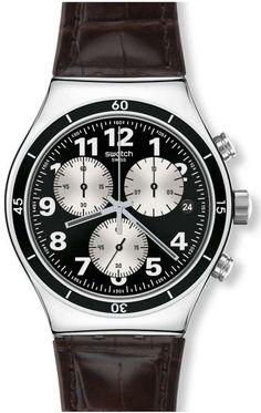 Swatch Browned Mens Watch YVS400