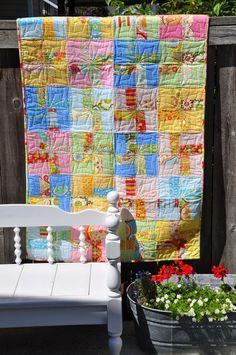 PLEASANT HOME: Funky Pinwheel Quilt