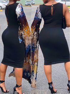 403feb89b5d boutiquefeel   Sequins Cape Sleeve Deaign Bodycon Dress