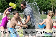 If your kids aren't thrilled about going to play outside then keep reading for five simple tips to get them off the couch and out of the house. www.TwoKidsAndABudget.com