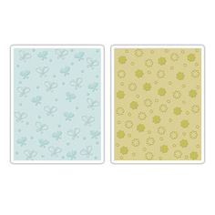Sizzix Textured Impressions Embossing Folders 2PK - Butterflies & Flowers Set $10.99