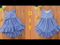 Girls Frock Design, Kids Frocks Design, Baby Frocks Designs, Baby Girl Frocks, Baby Girl Skirts, Frocks For Girls, Baby Girl Dress Patterns, Baby Clothes Patterns, Skirt Patterns