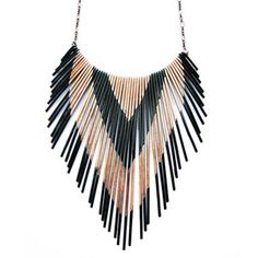 Copper Multi V Necklace now featured on Fab.